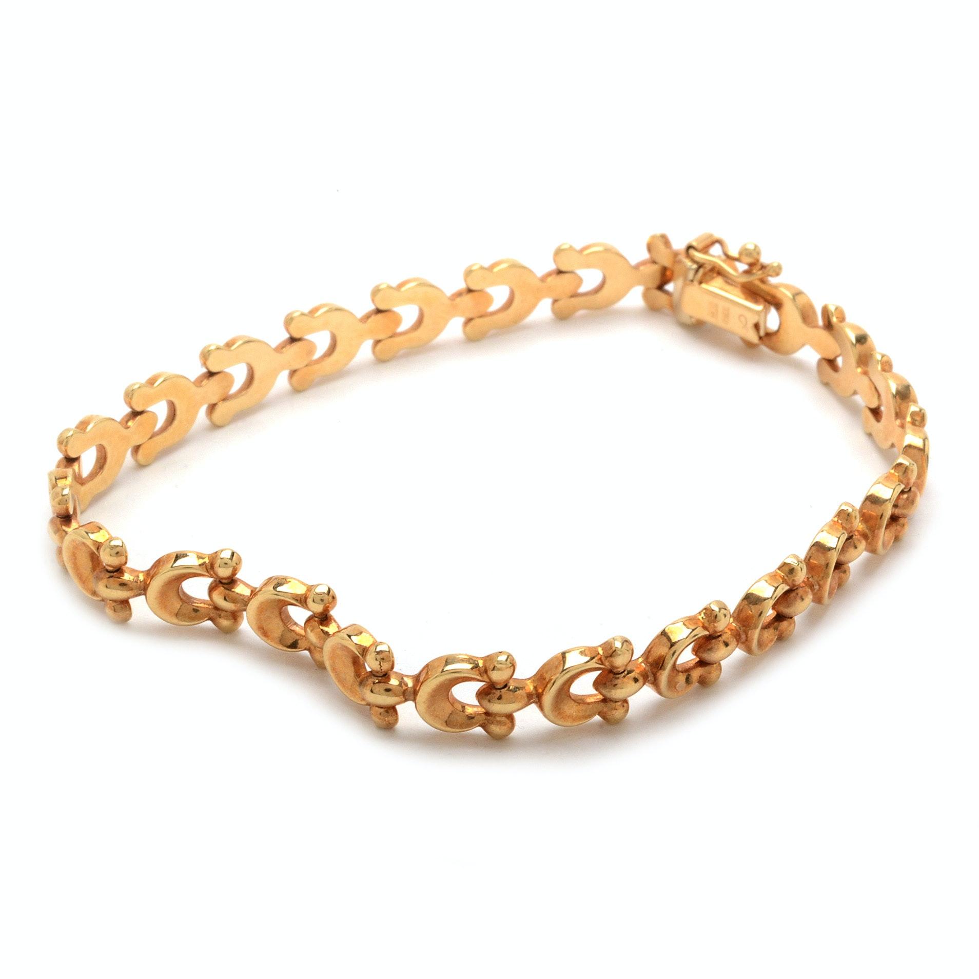 14K Rose Gold Link Bracelet