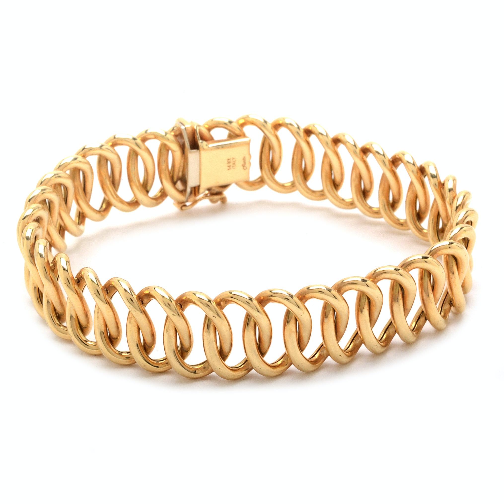 Aurafin 14K Gold Link Bracelet