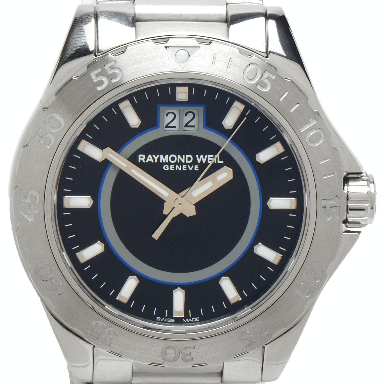 Raymond Weil RW Sport Black 44mm Stainless Steel Wristwatch