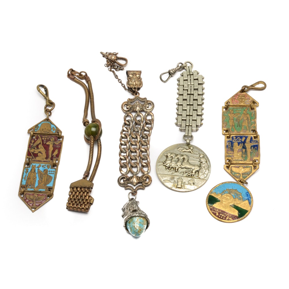 Assortment of Vintage Watch Fobs