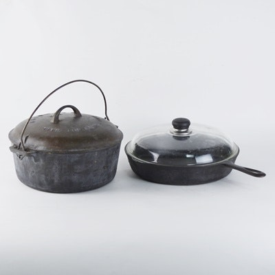 Griswold Cast Iron Skillet and Dutch Oven