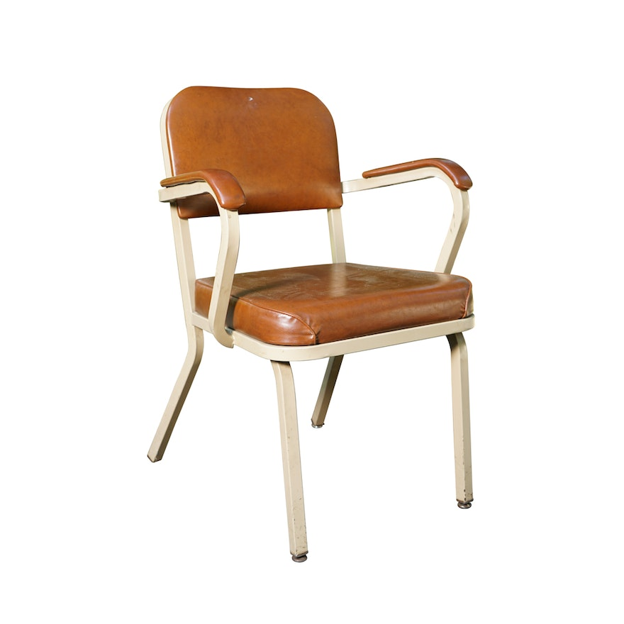 vintage mid century industrial office chair by united chair company