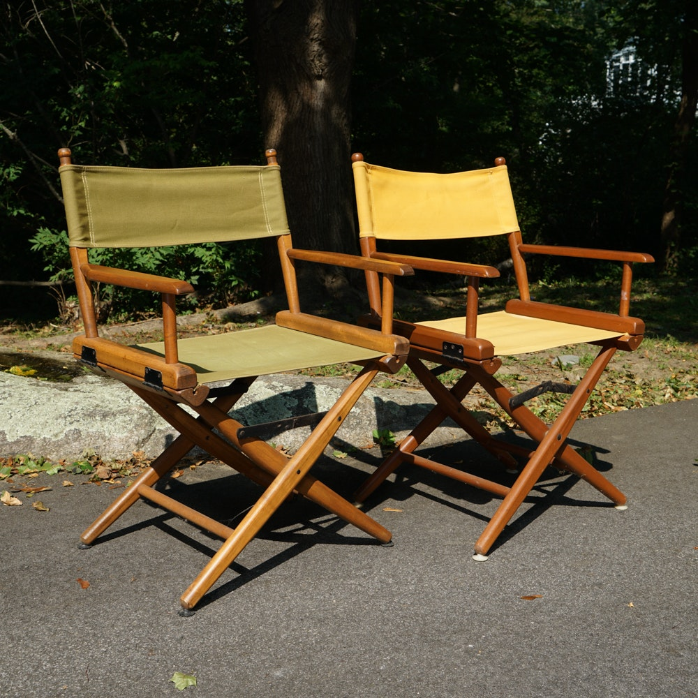 Vintage 1960s Director's Chairs by Telescope Furniture