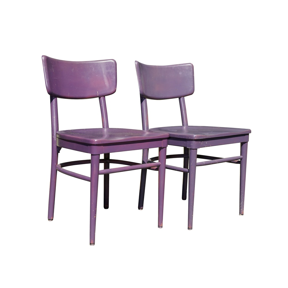 Vintage Purple Side Chairs by Thonet