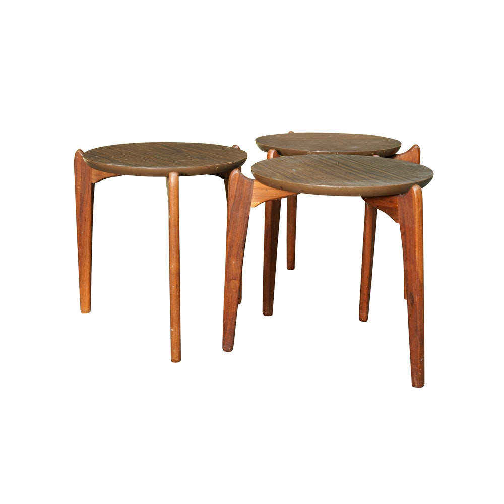 Mid Century Modern Side Stacking Tables