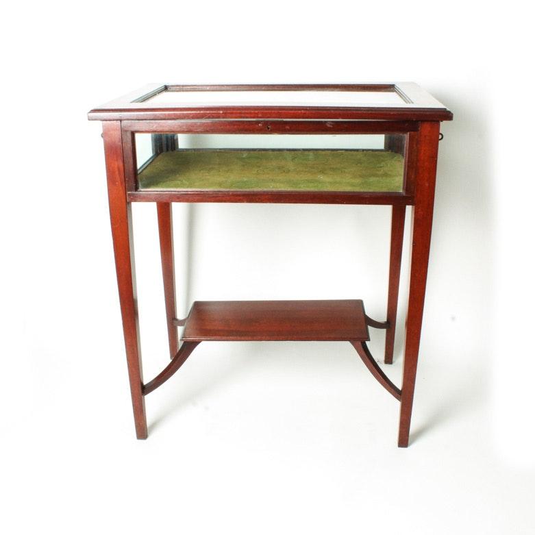 Inlaid Mahogany Display Case / Table