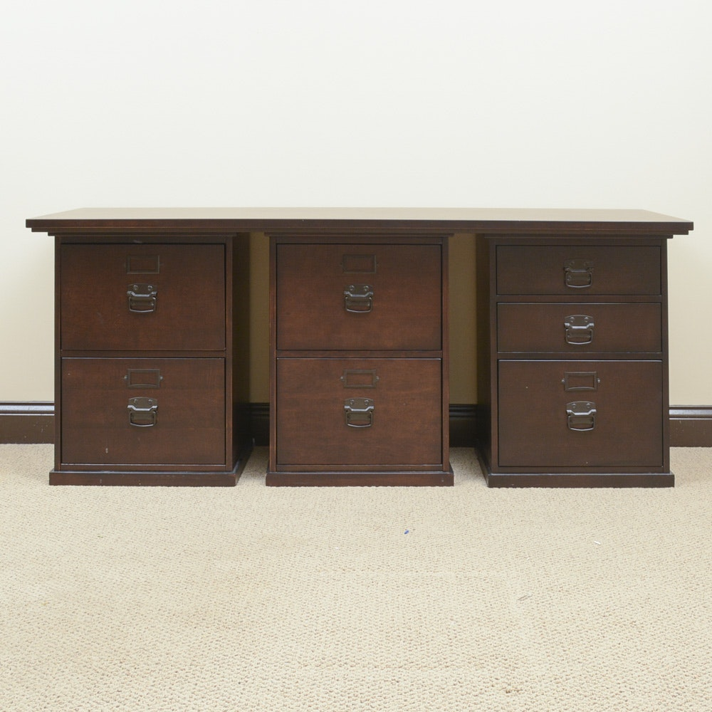 Modular Desk With File Cabinets ...
