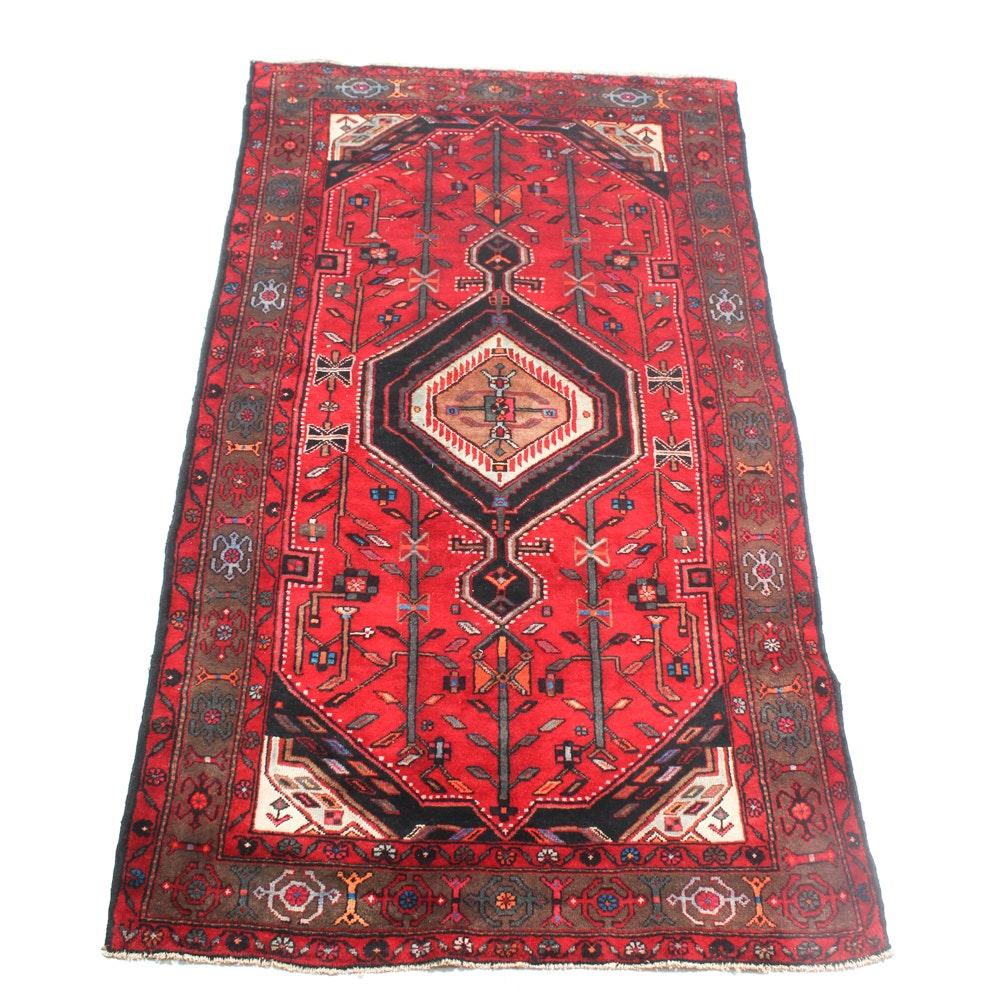 Hand-Knotted Vintage Persian Kurdish Bijar Rug