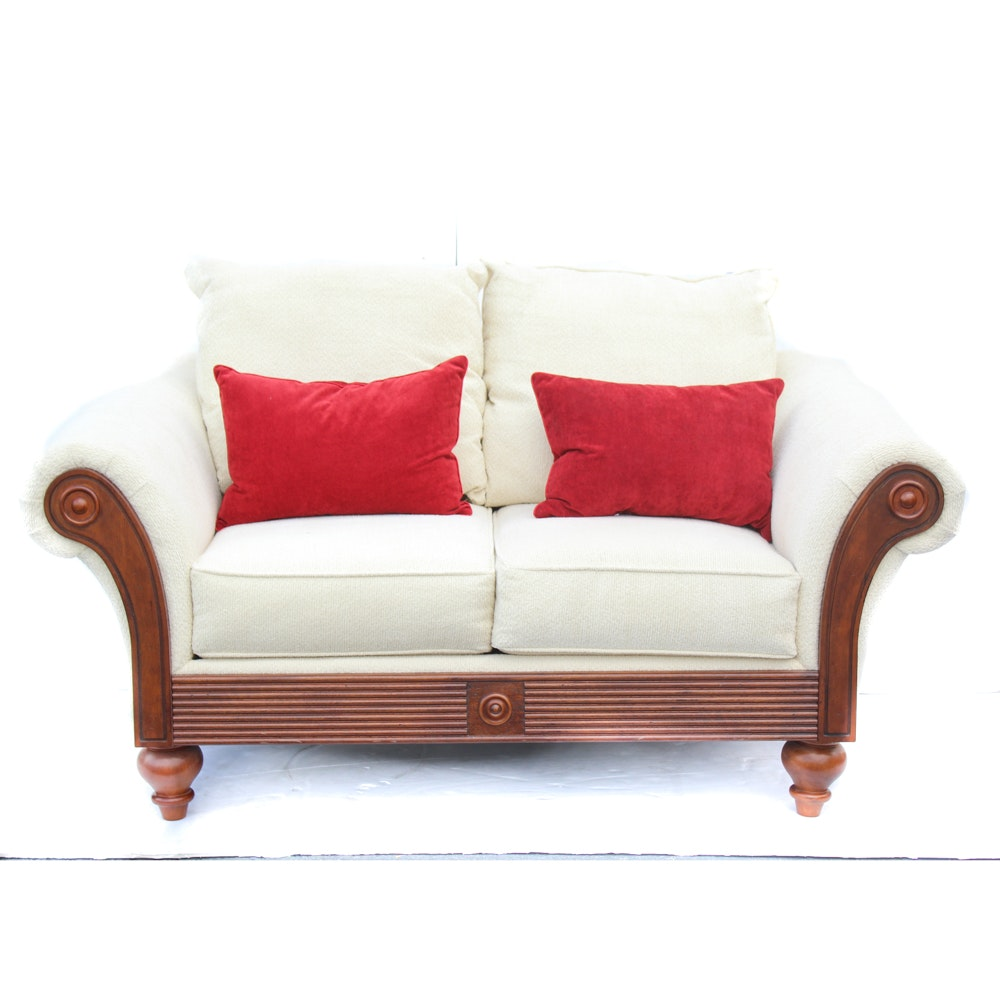 Cream Upholstered Sofa by Sofa Express