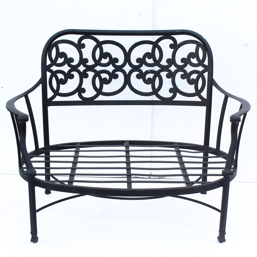 Patio Settees with Side Table