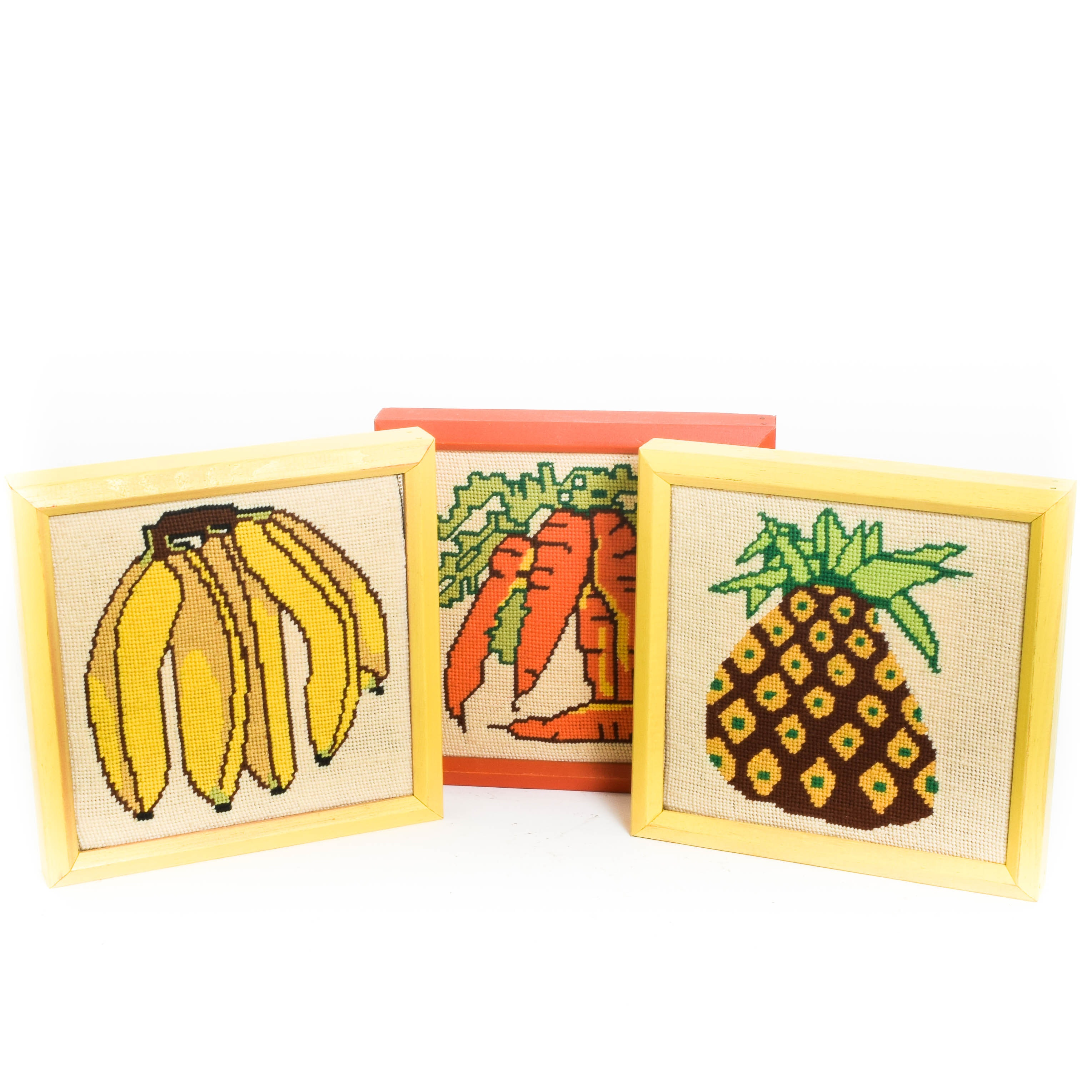 Collection of Vintage Needlepoint Wall Hangings