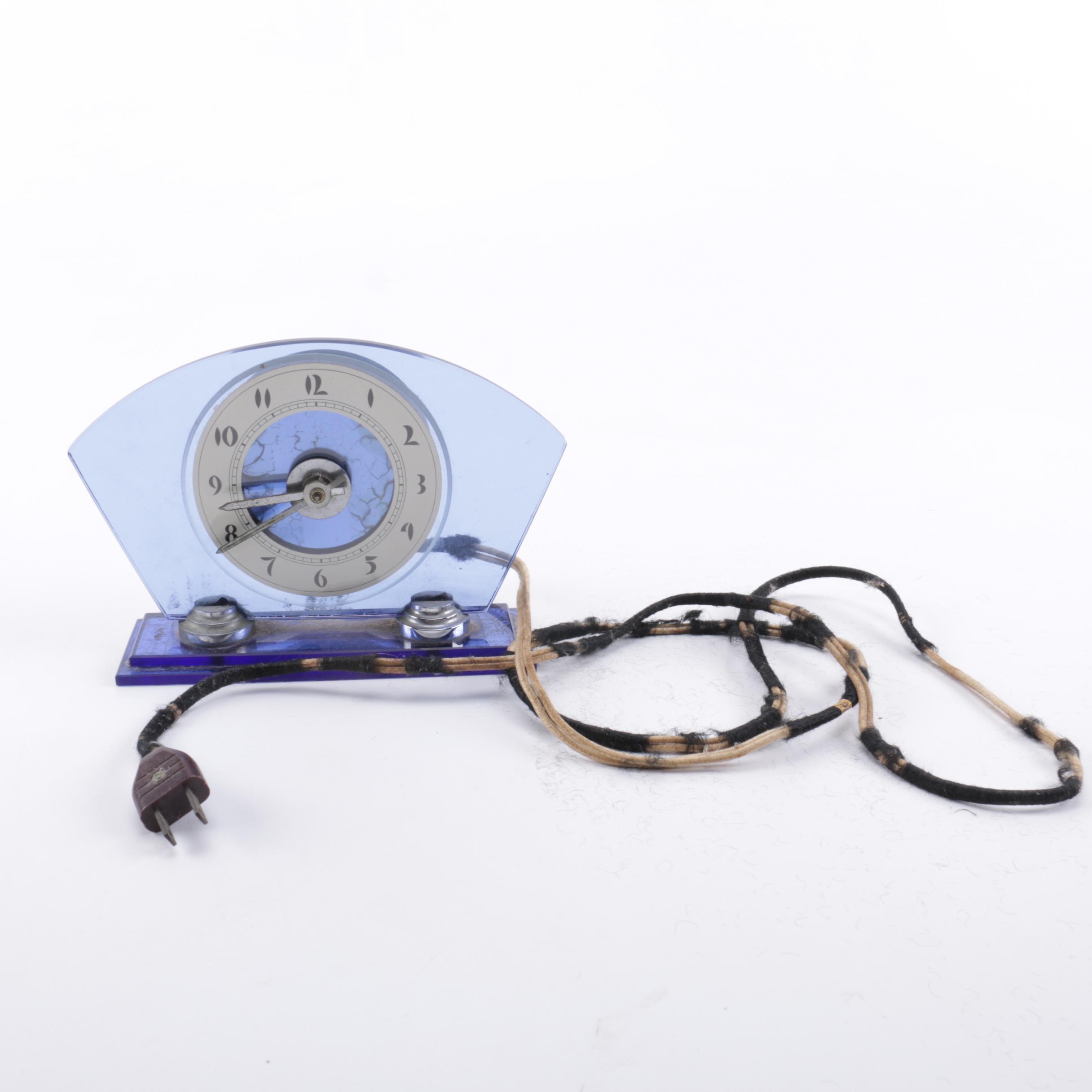 Sessions 1930s Art Deco Mantel Clock
