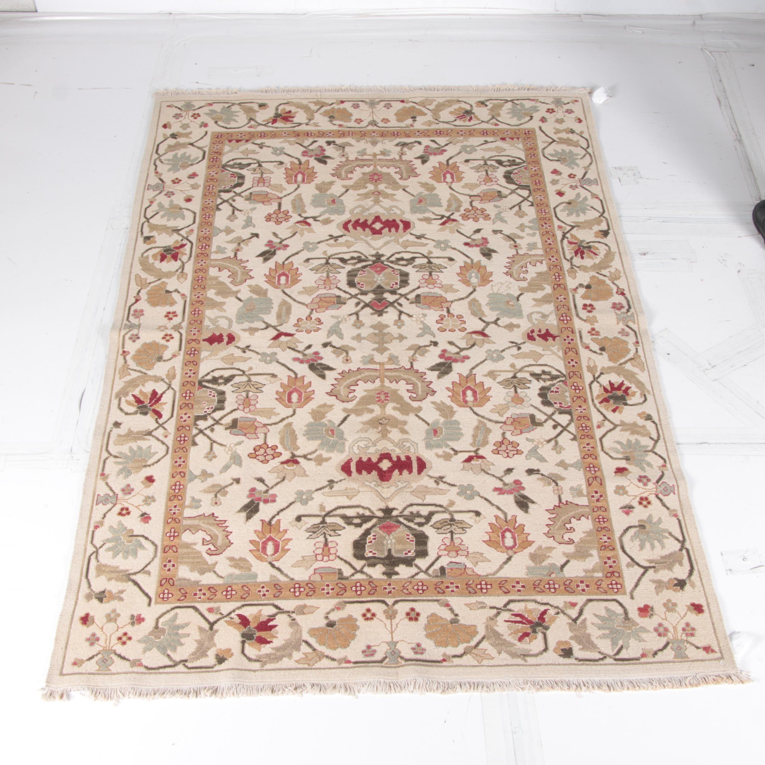 "Chinese ""Soumak"" Flat Weave Wool Rug"