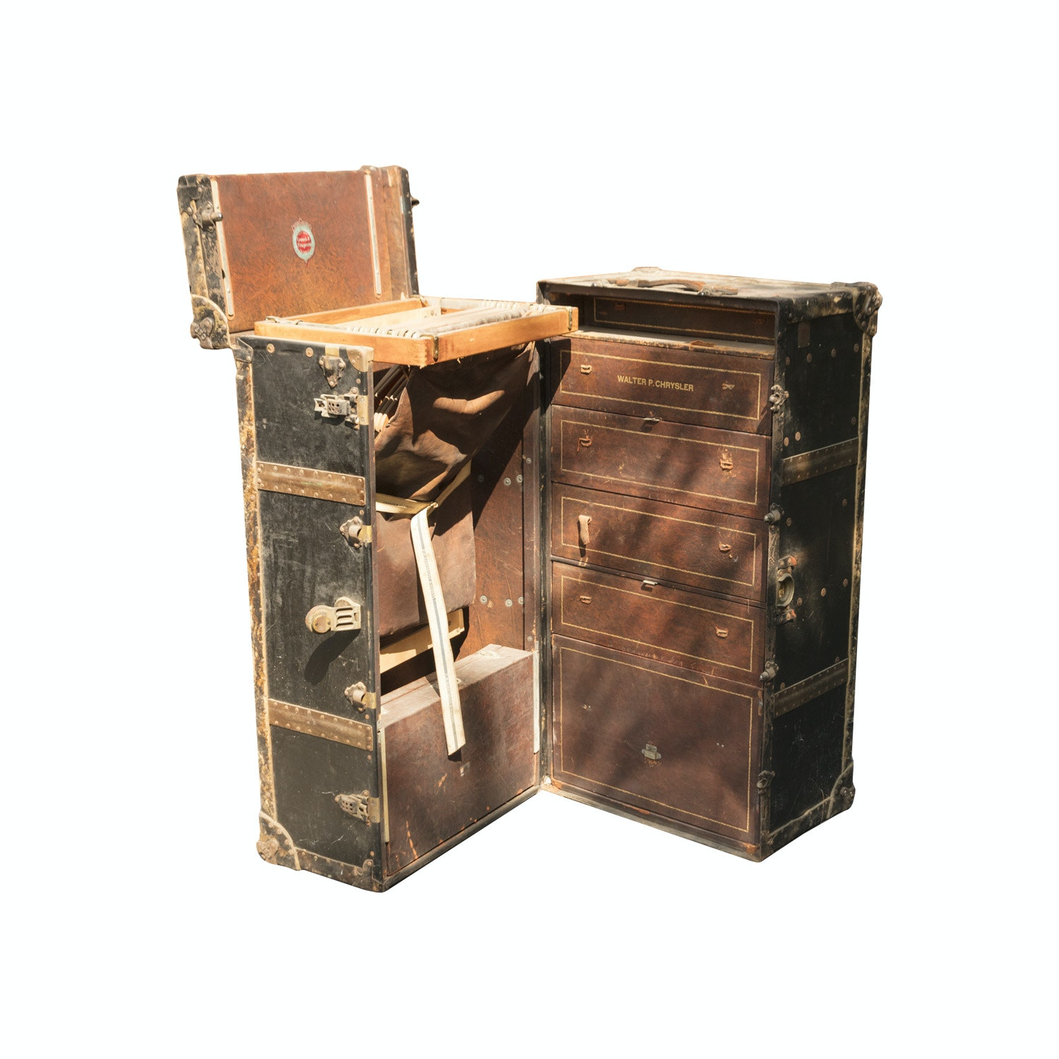 Antique Wardrobe Trunk by Crouch & Fitzgerald