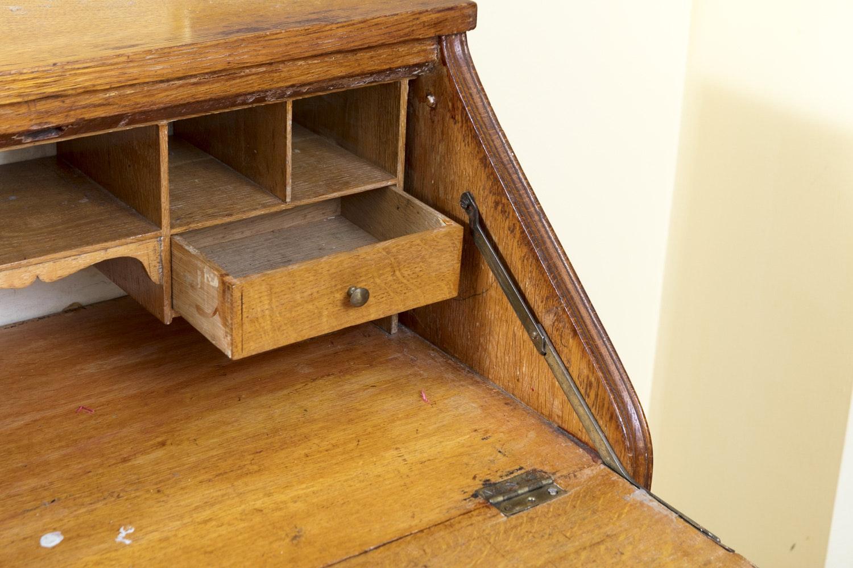 Vintage To Antique Oak Ladies Writing Desk Ebth