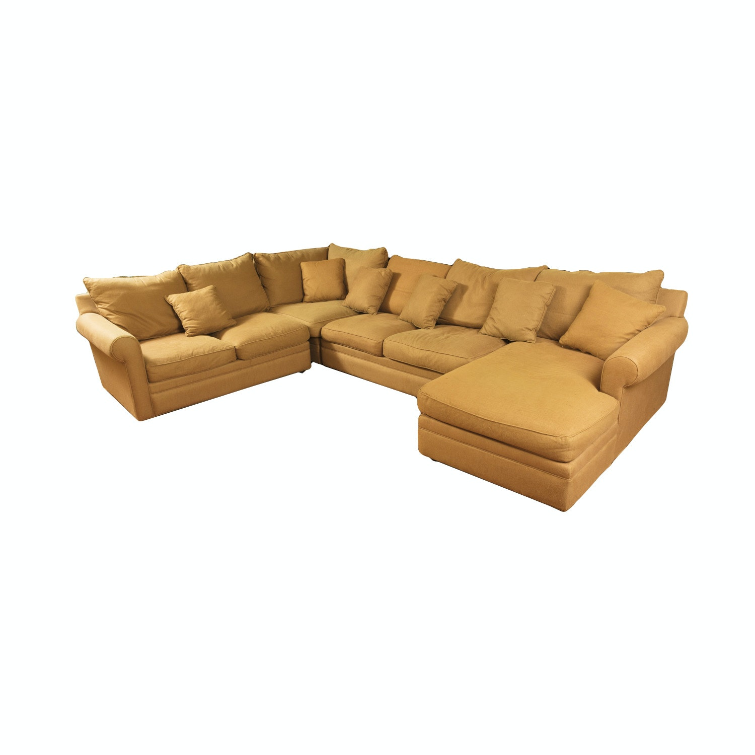 Gold Sectional Sofa by Precedent