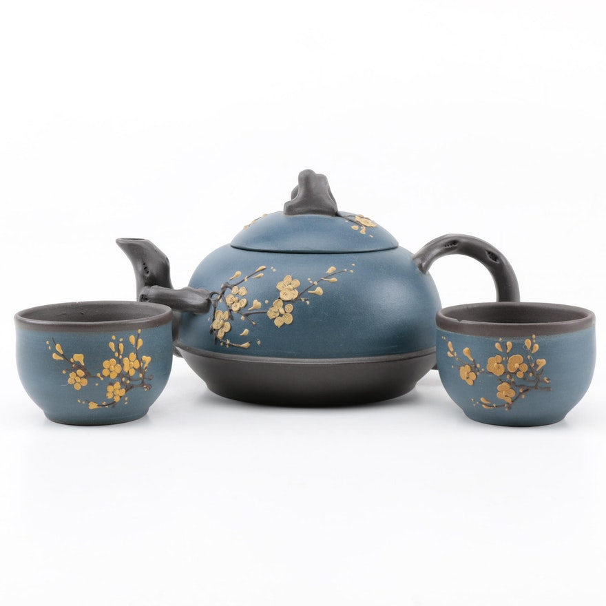 Teavana blue cherry blossom tea set ebth - Teavana teapot set ...