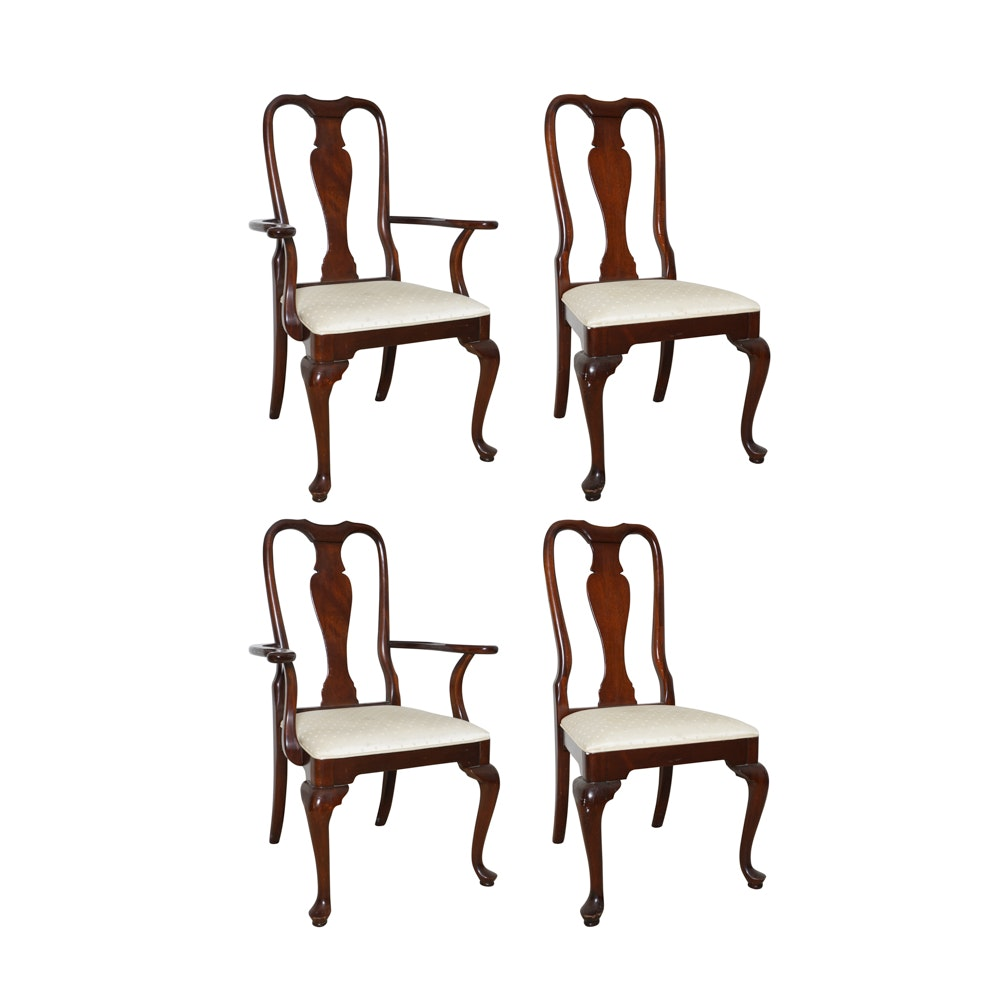 Queen Anne Style Dining Chairs by Hickory Manufacturing Co.