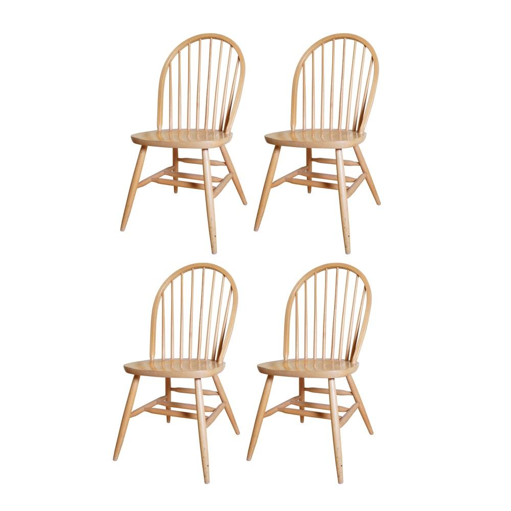 Set of Windsor Style Oak Chairs