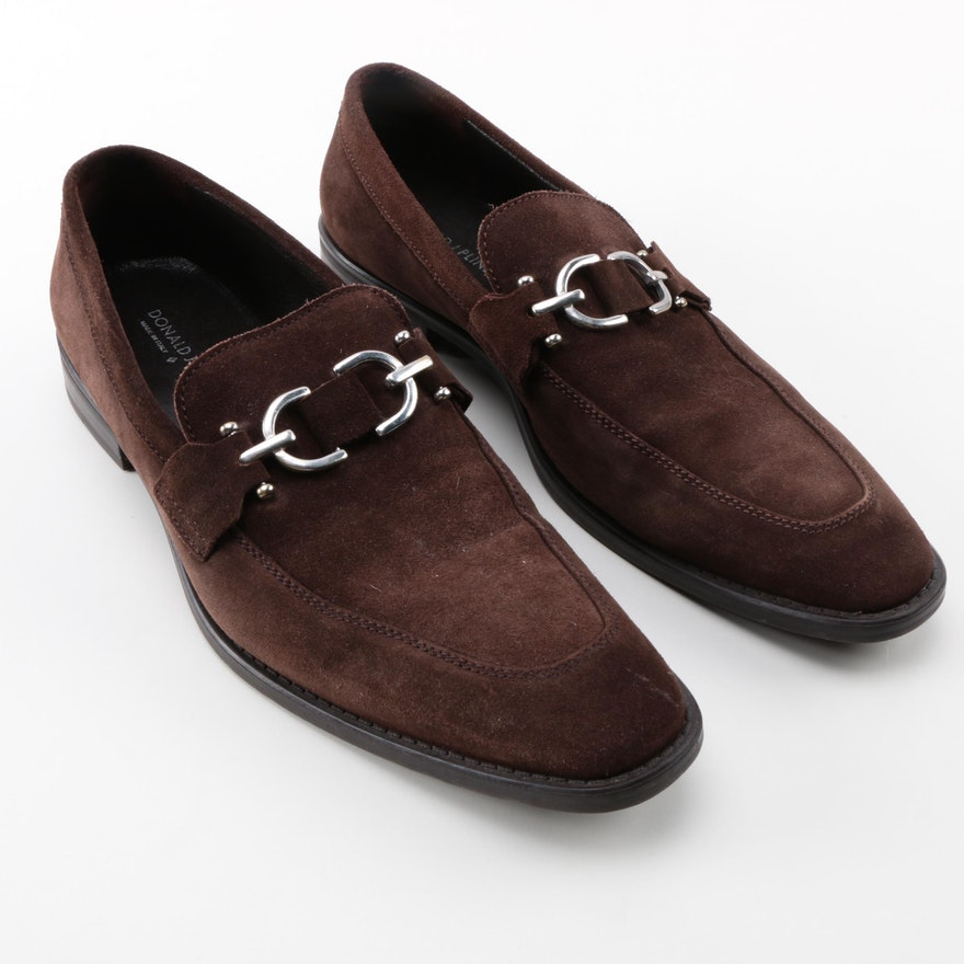 496965aee2ce6 Men s Donald J Pliner Dacio Brown Suede Bit Loafers   EBTH