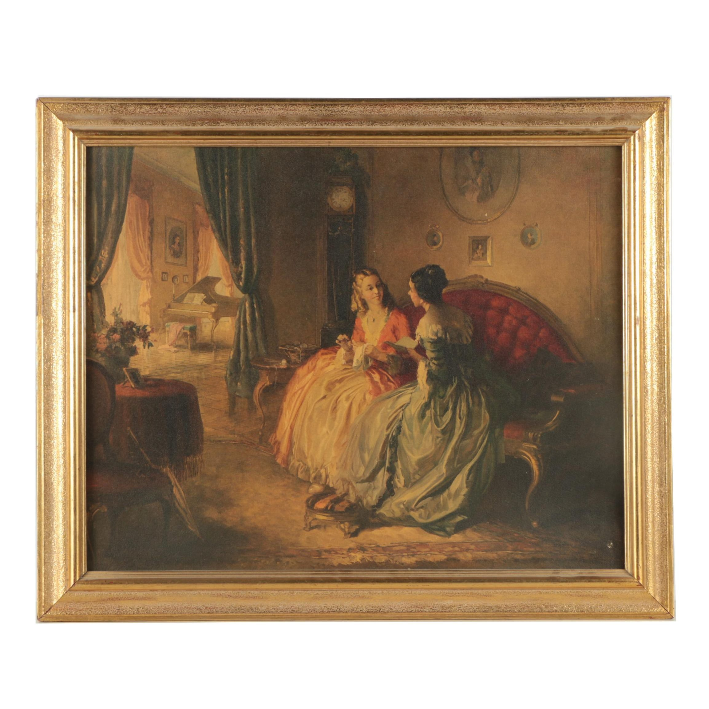 """Reproduction Print on Paperboard After Louis Jambor """"His Letter"""""""
