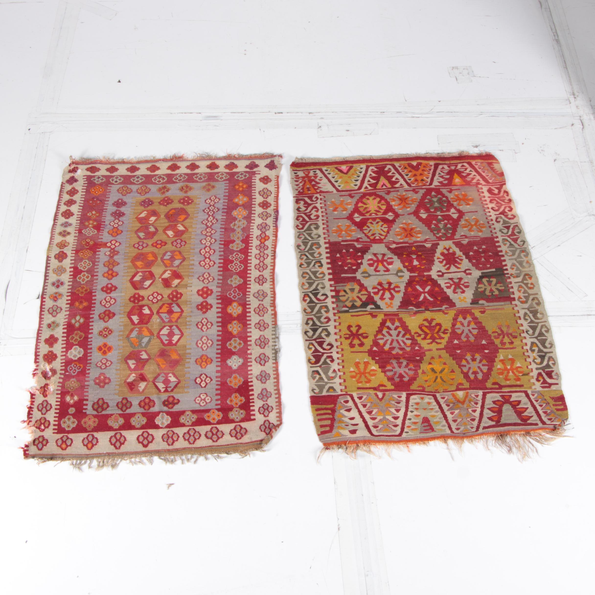 Handwoven Turkish Kilim Area Rugs