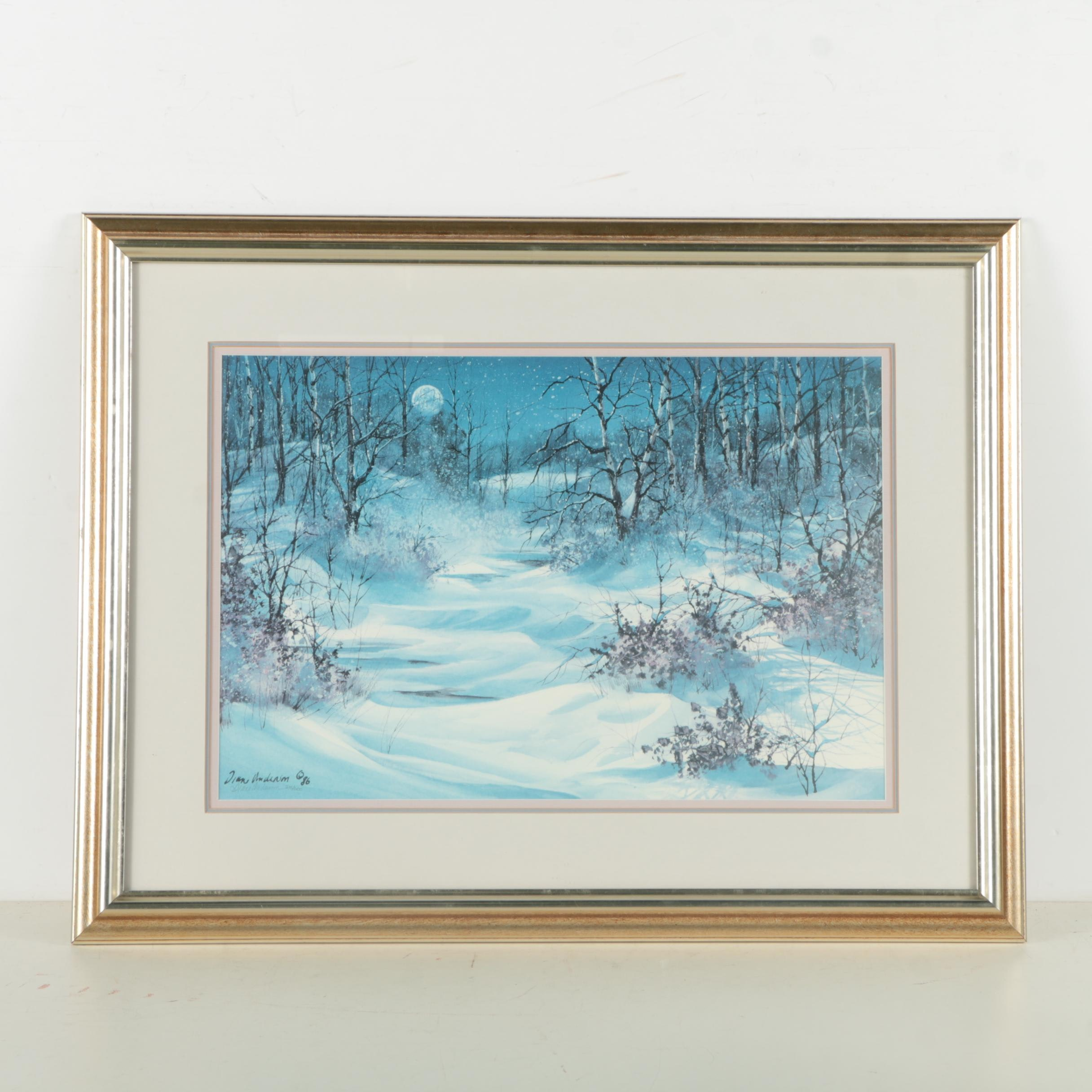 Diane Anderson Limited Edition Offset Lithograph