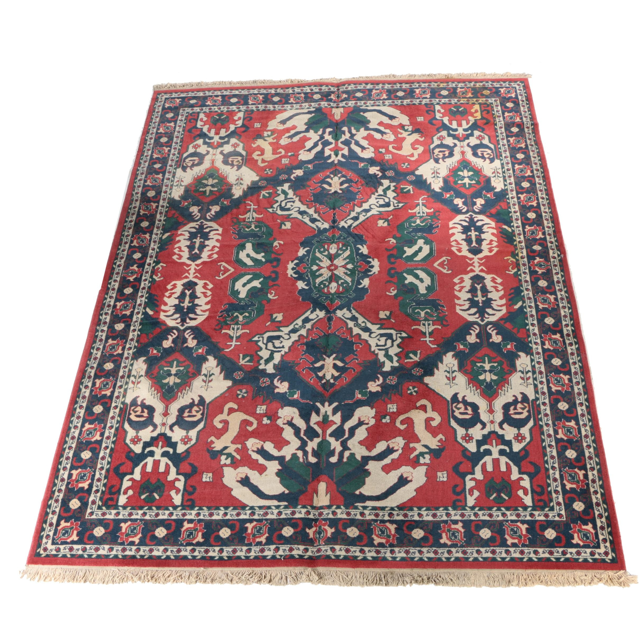 Large Power-Loomed Turkish Wool Area Rug