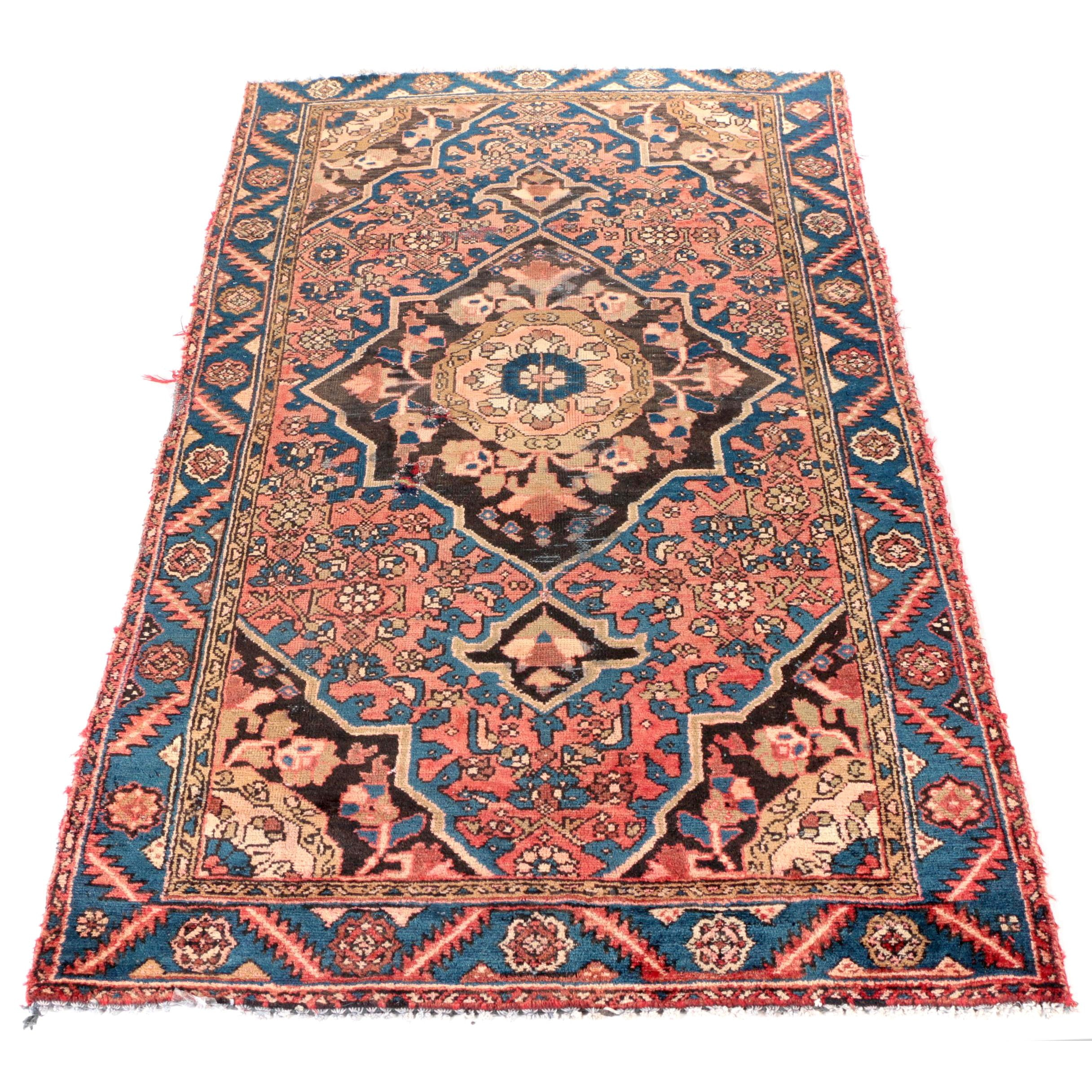 Hand-Knotted Persian Zanjan Area Rug