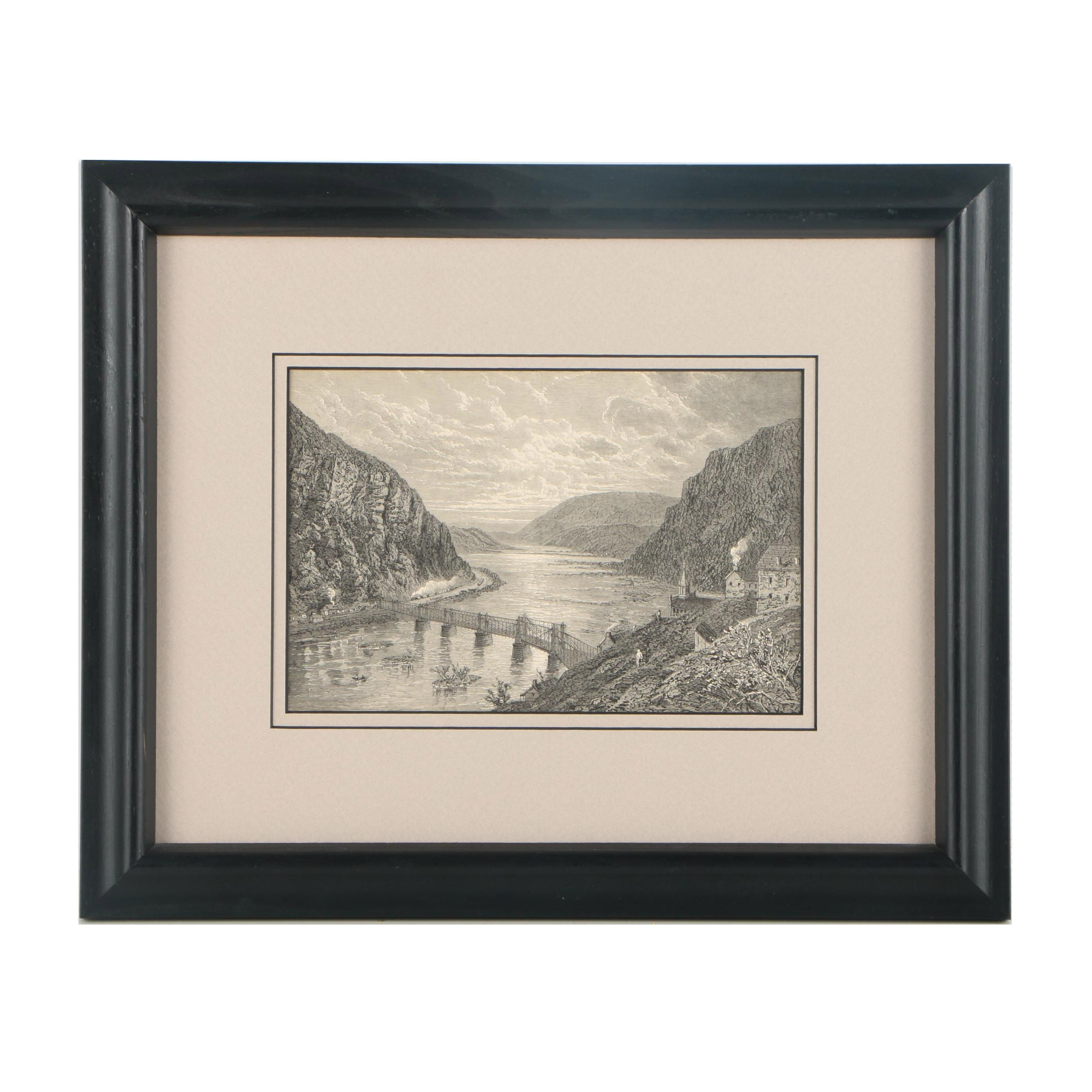 """Lithograph after an Engraving """"Harper's Ferry"""""""