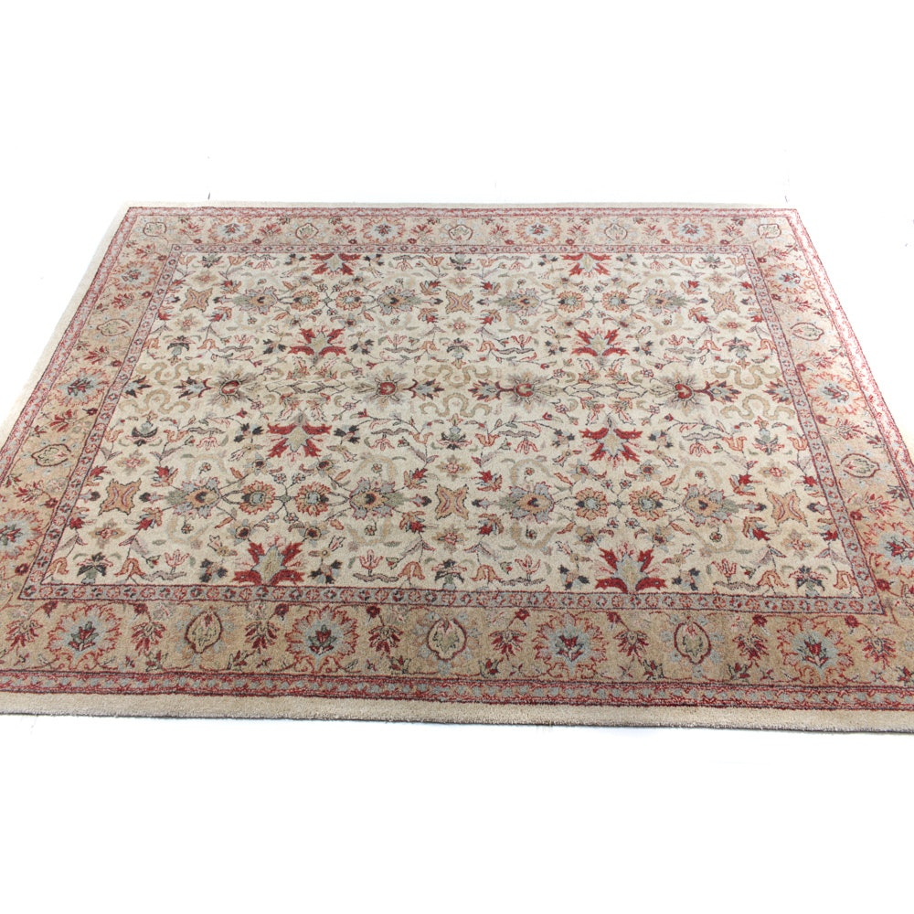Hand-Tufted Indo-Persian Tabra