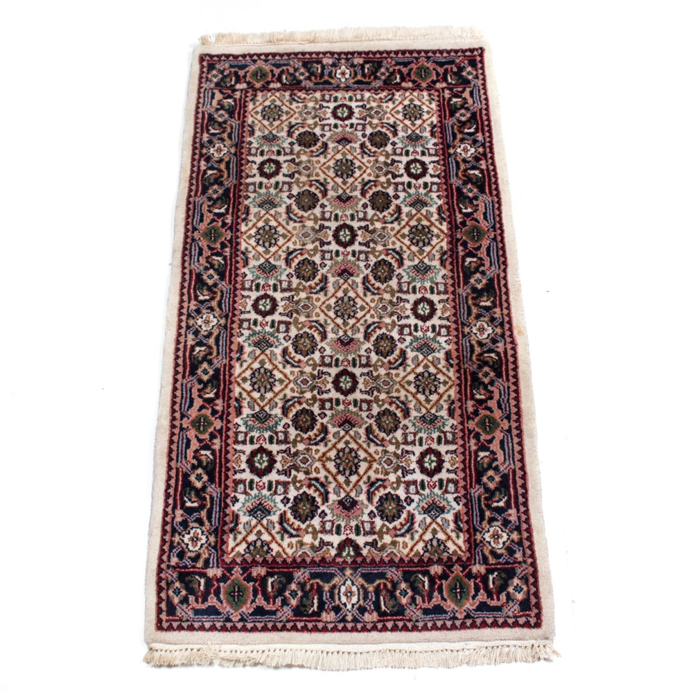 Hand-Knotted Indo-Persian Bijar Rug