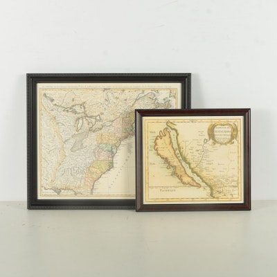 Giclee Print Reproductions of United States Maps