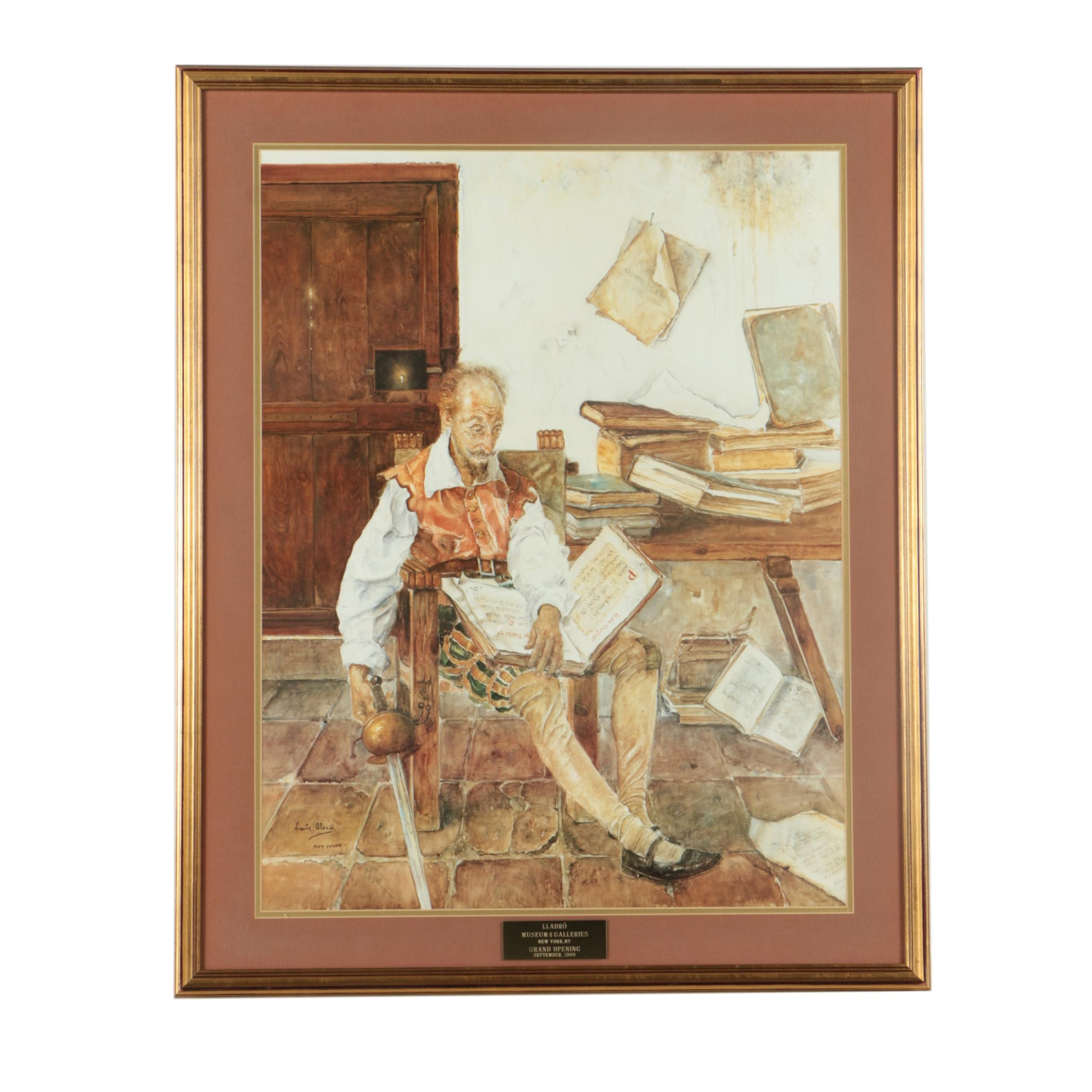 """Offset Lithograph """"Lladro Museum & Galleries Grand Opening 1986"""""""