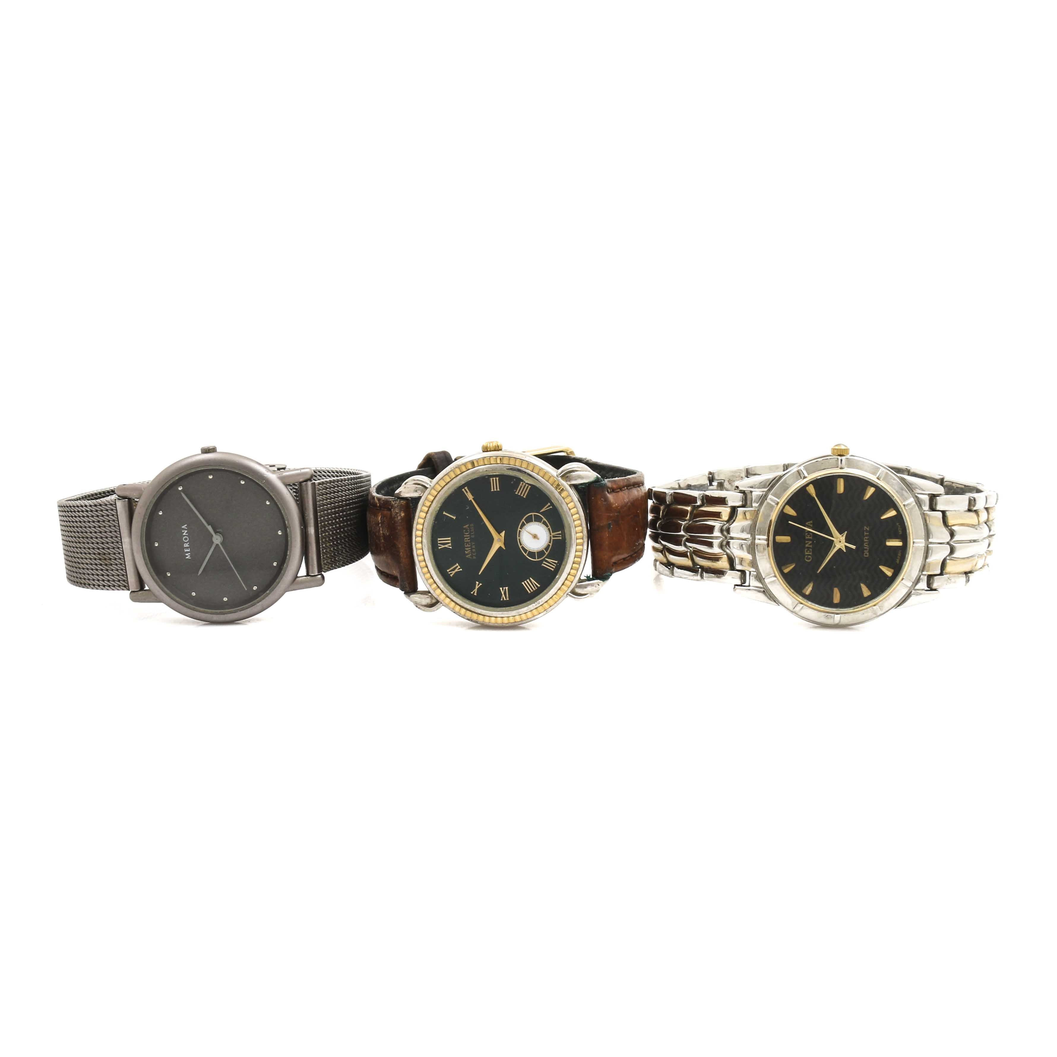 Three Analog Wristwatches
