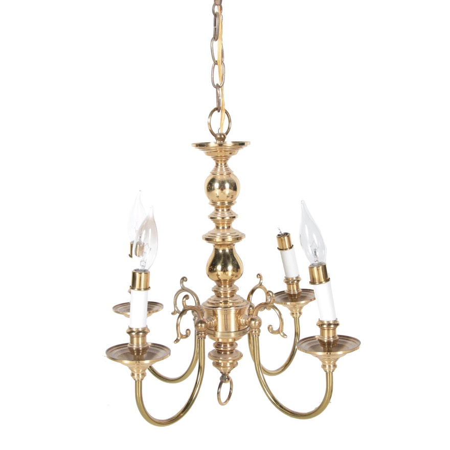 Brass Candle Style Chandelier