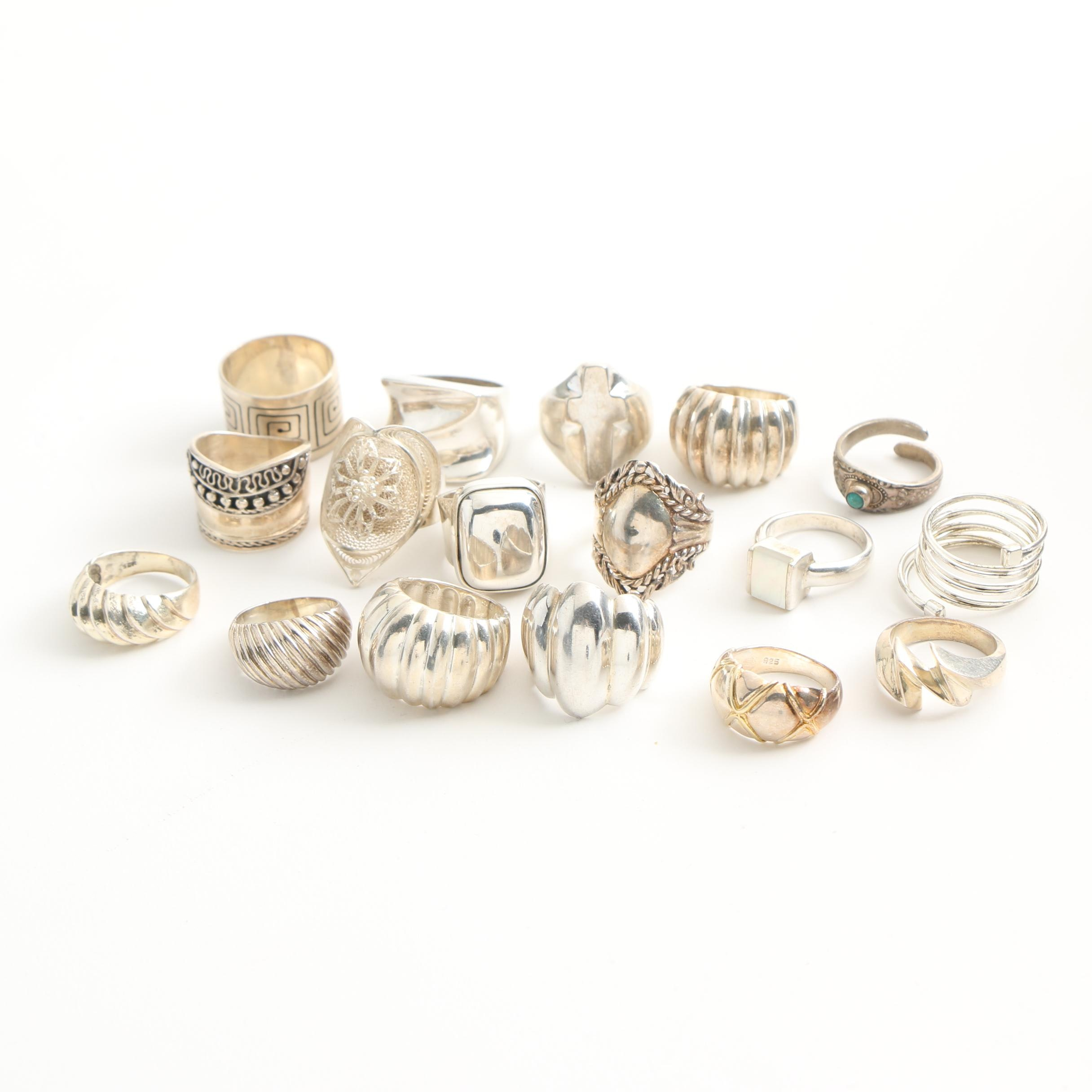 Assortment of Sterling Silver Rings