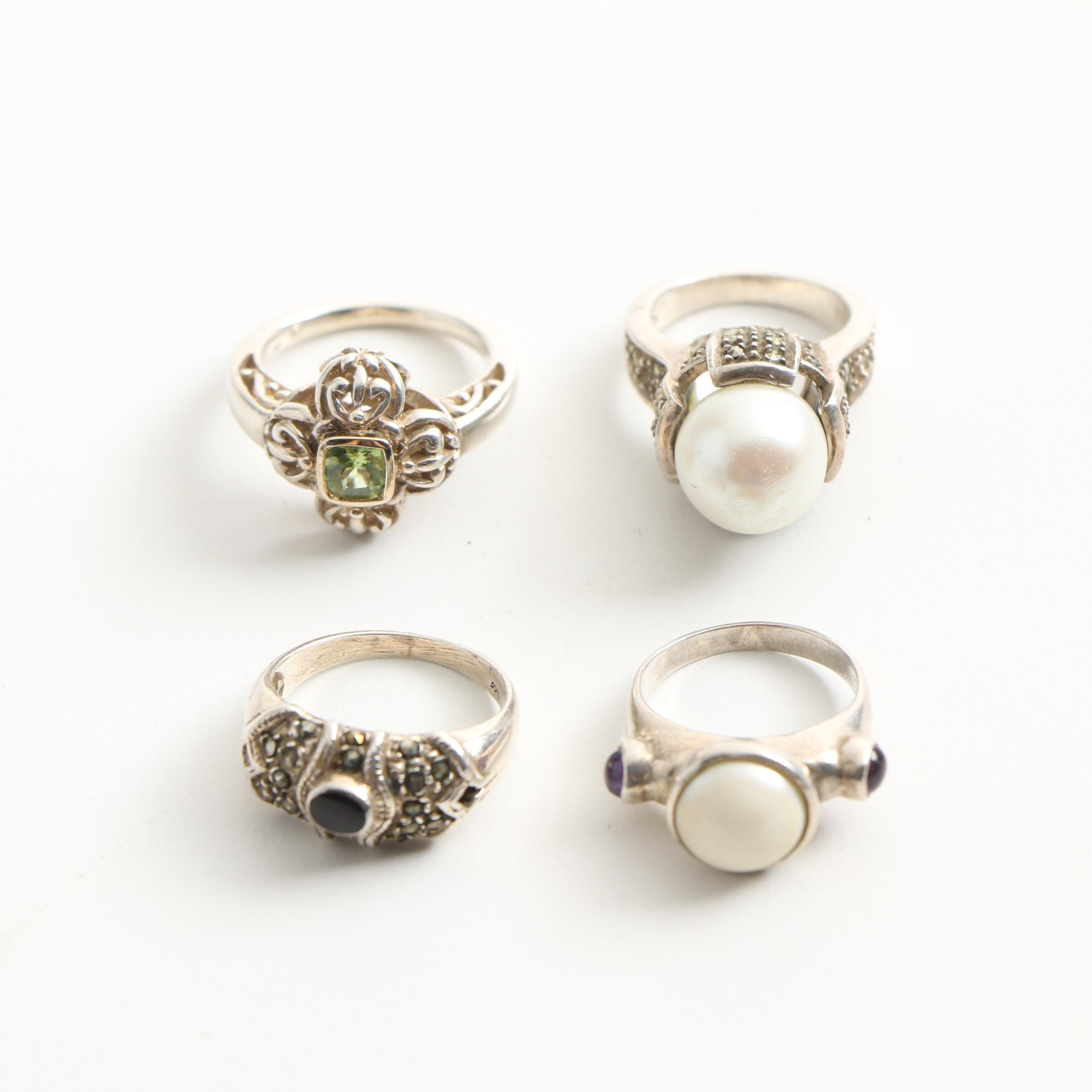 Selection of Sterling Silver Rings