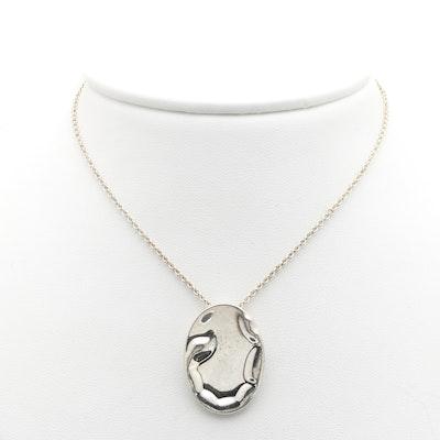 Tiffany and Co. Elsa Peretti Silver Scorpio Zodiac Necklace