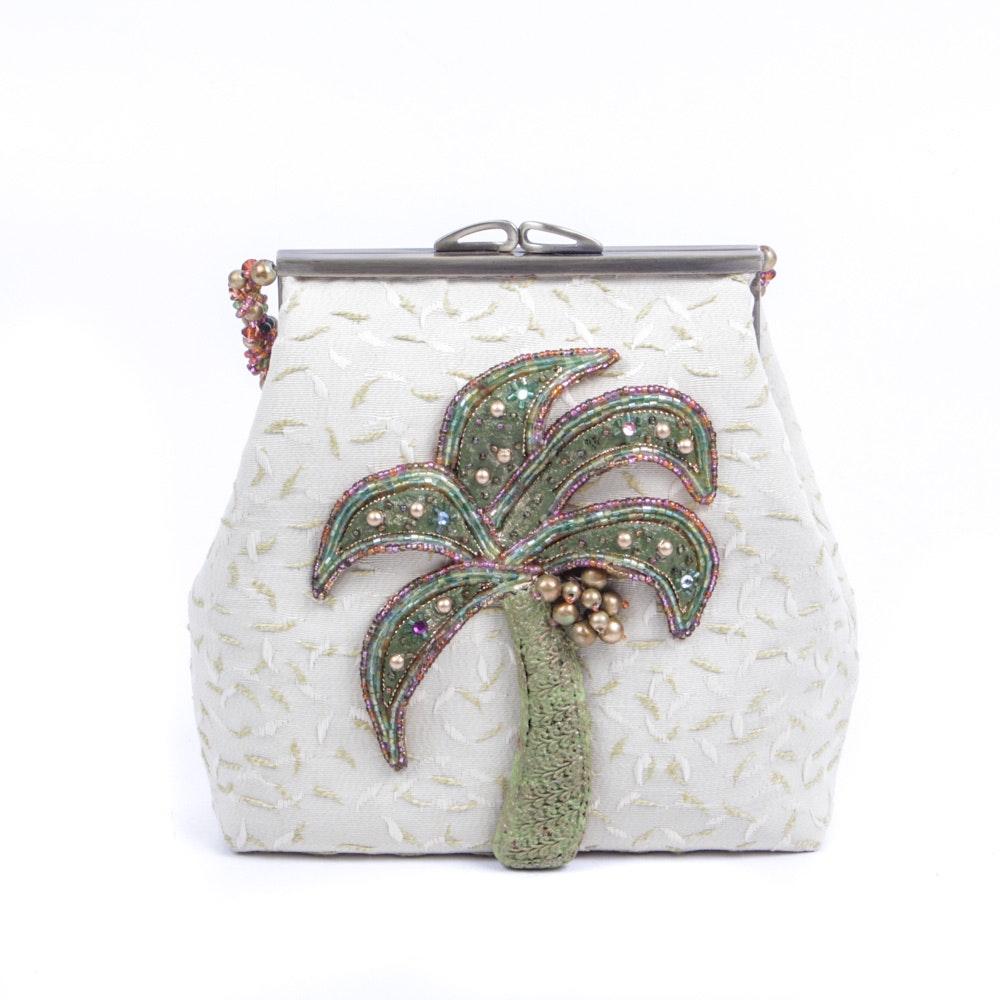 Mary Francis Palm Tree Handbag