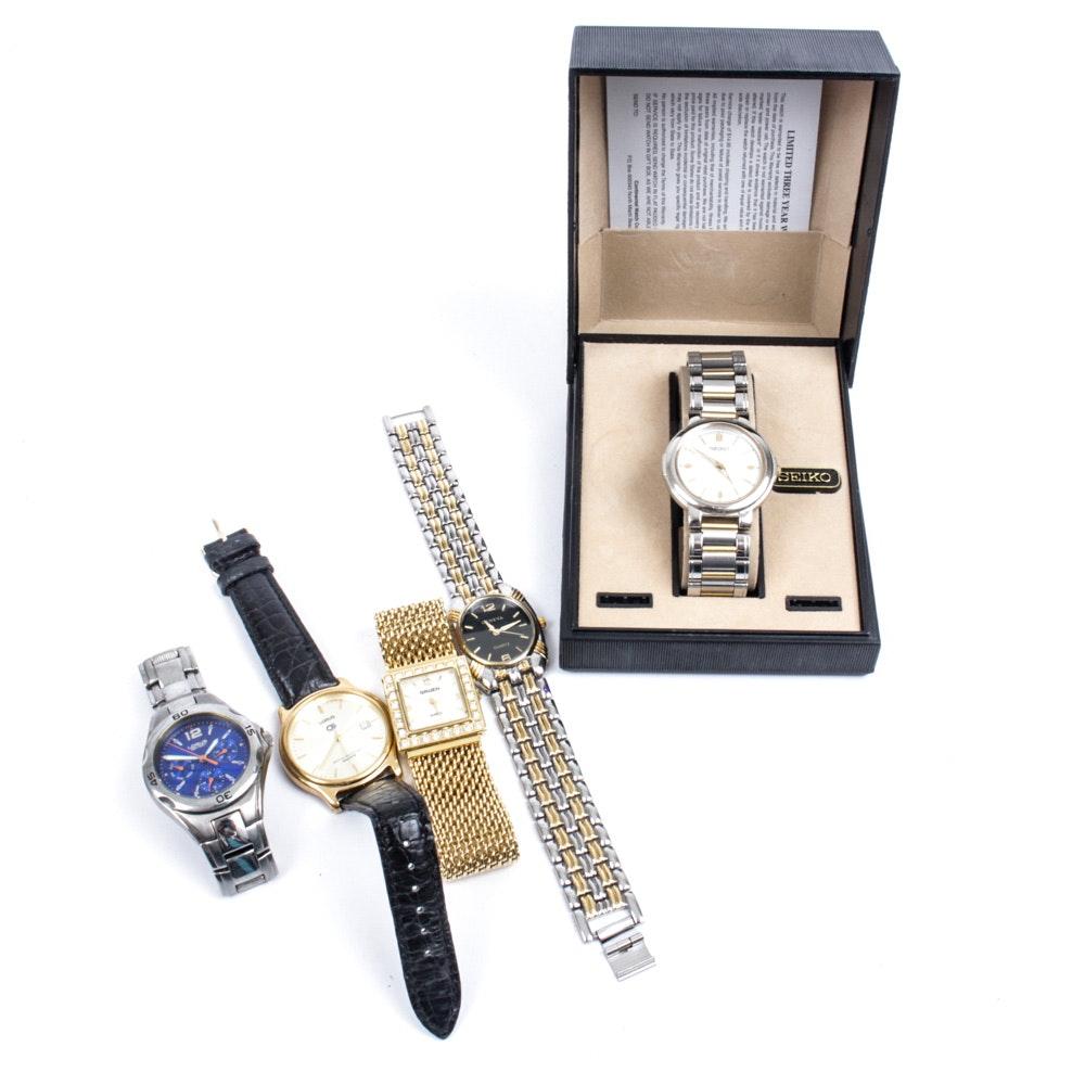 Designer Wristwatches Featuring Seiko, Gruen, Geneva