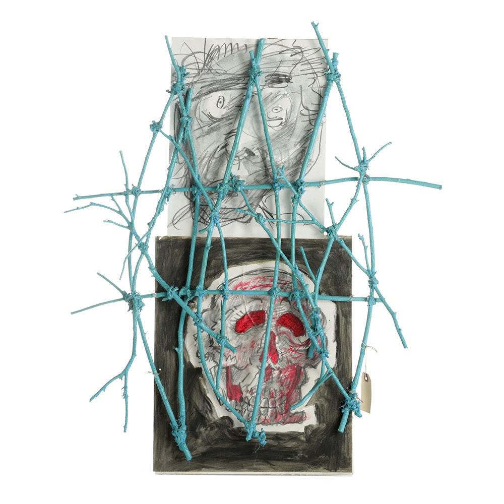 "Frank Kowing Mixed Media Sculpture ""RICTVS-Par.a.dise"""