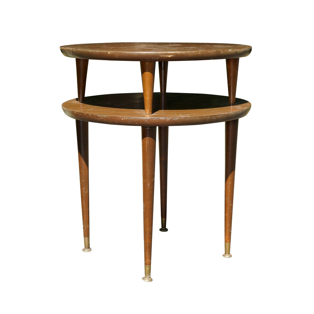Two-Tiered Mid Century Side Table by Essex House