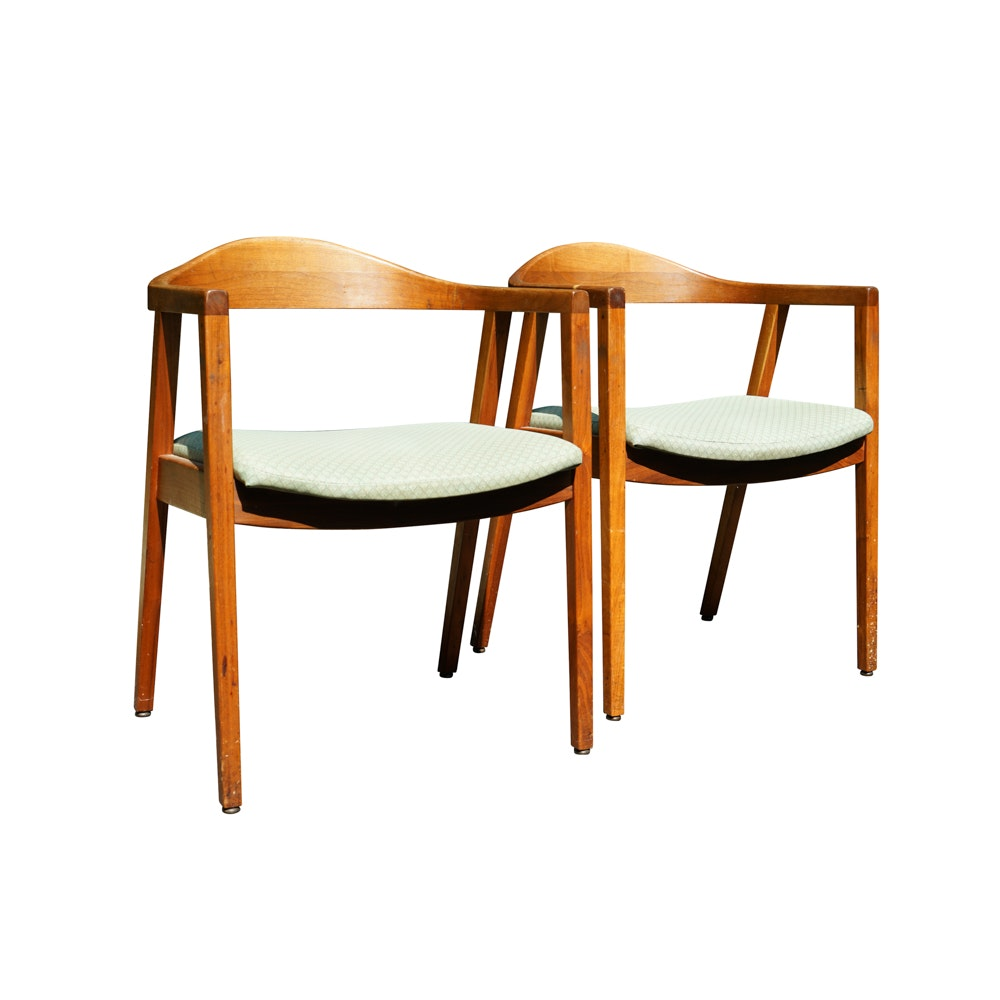 Danish Modern Chairs By W.H. Gunlocke Chair Co.