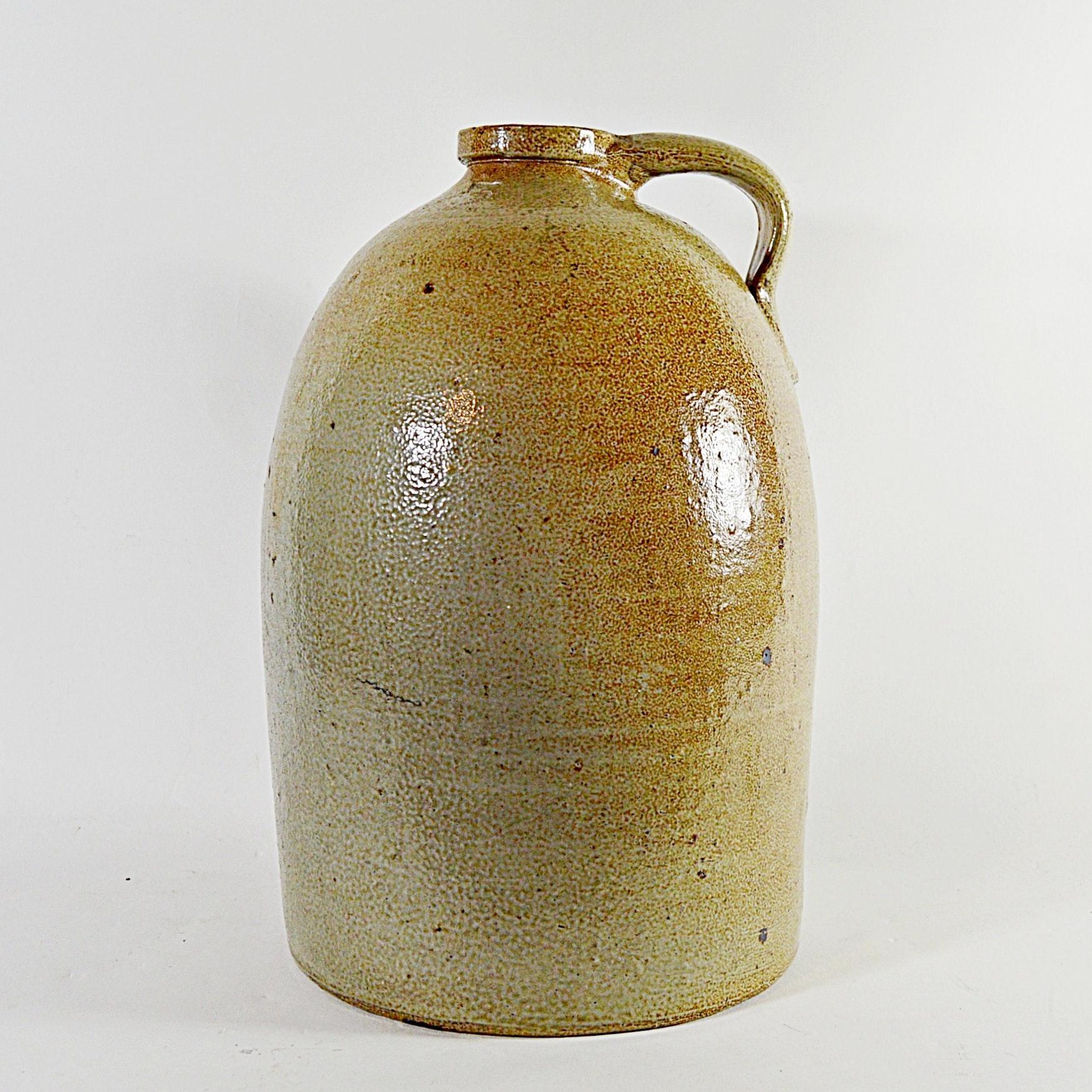 Vintage Three Gallon Salt Glazed Stoneware Jug