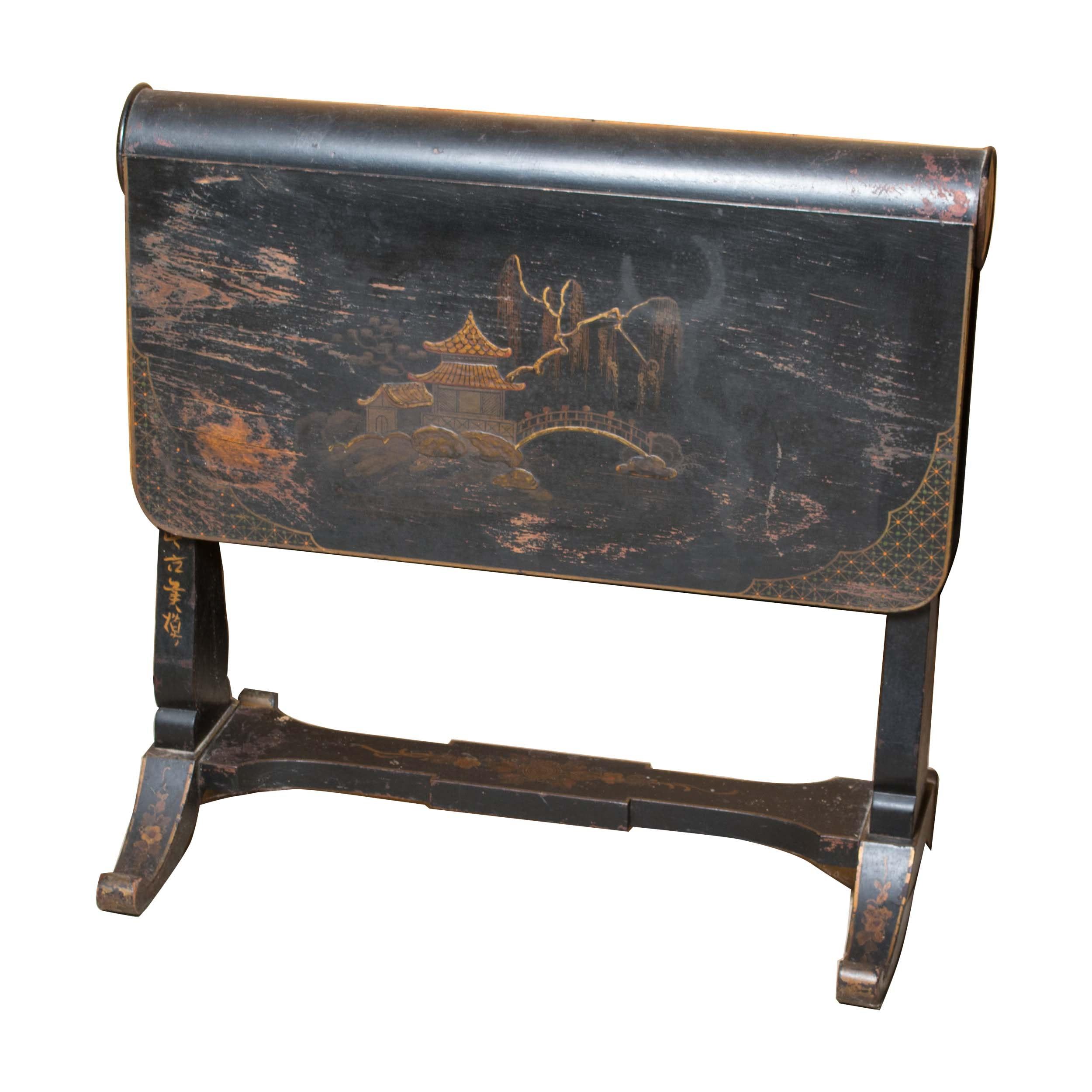 Antique Asian Drop Leaf Table