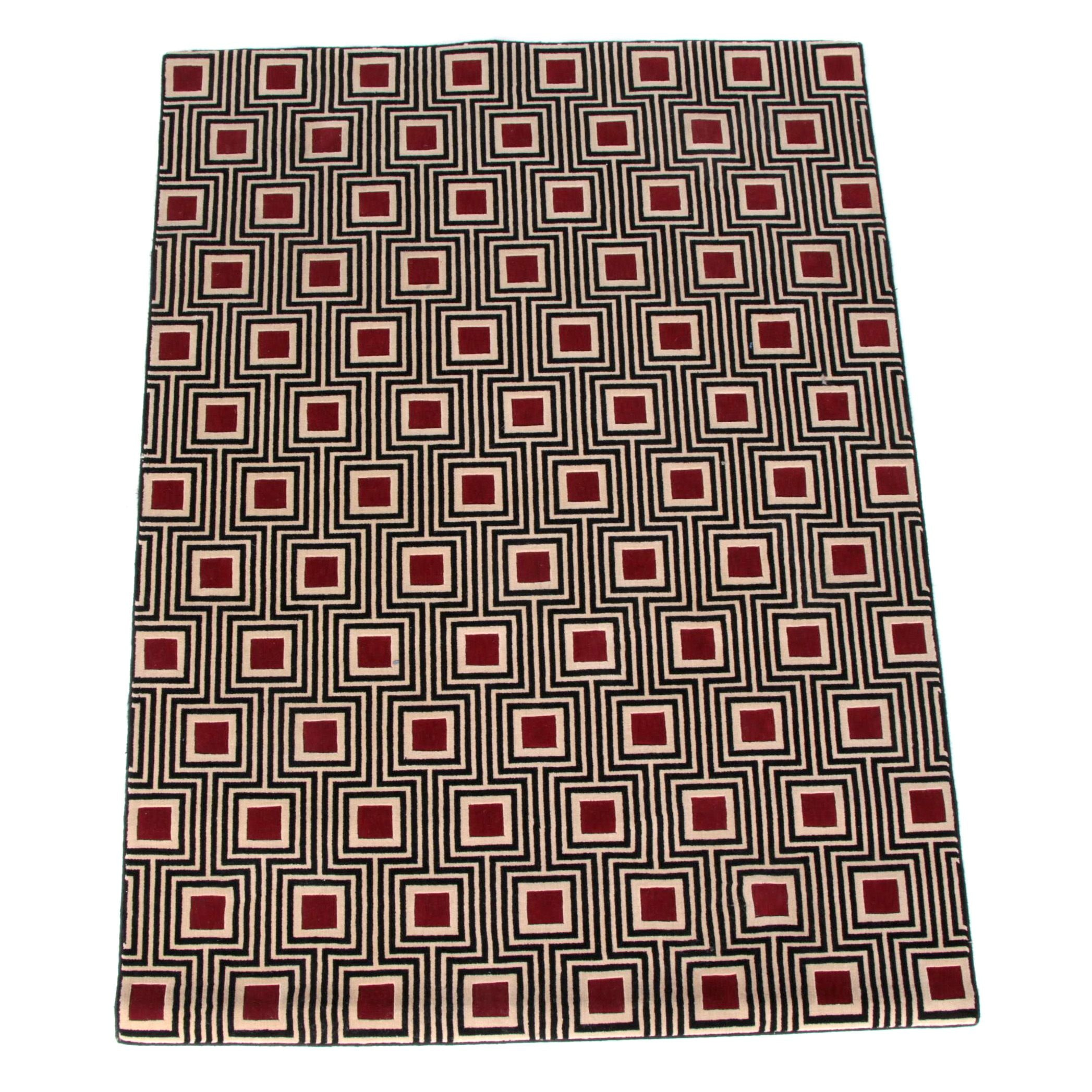 "Power-Loomed Nourison ""Manhattan Collection"" Wool Area Rug"