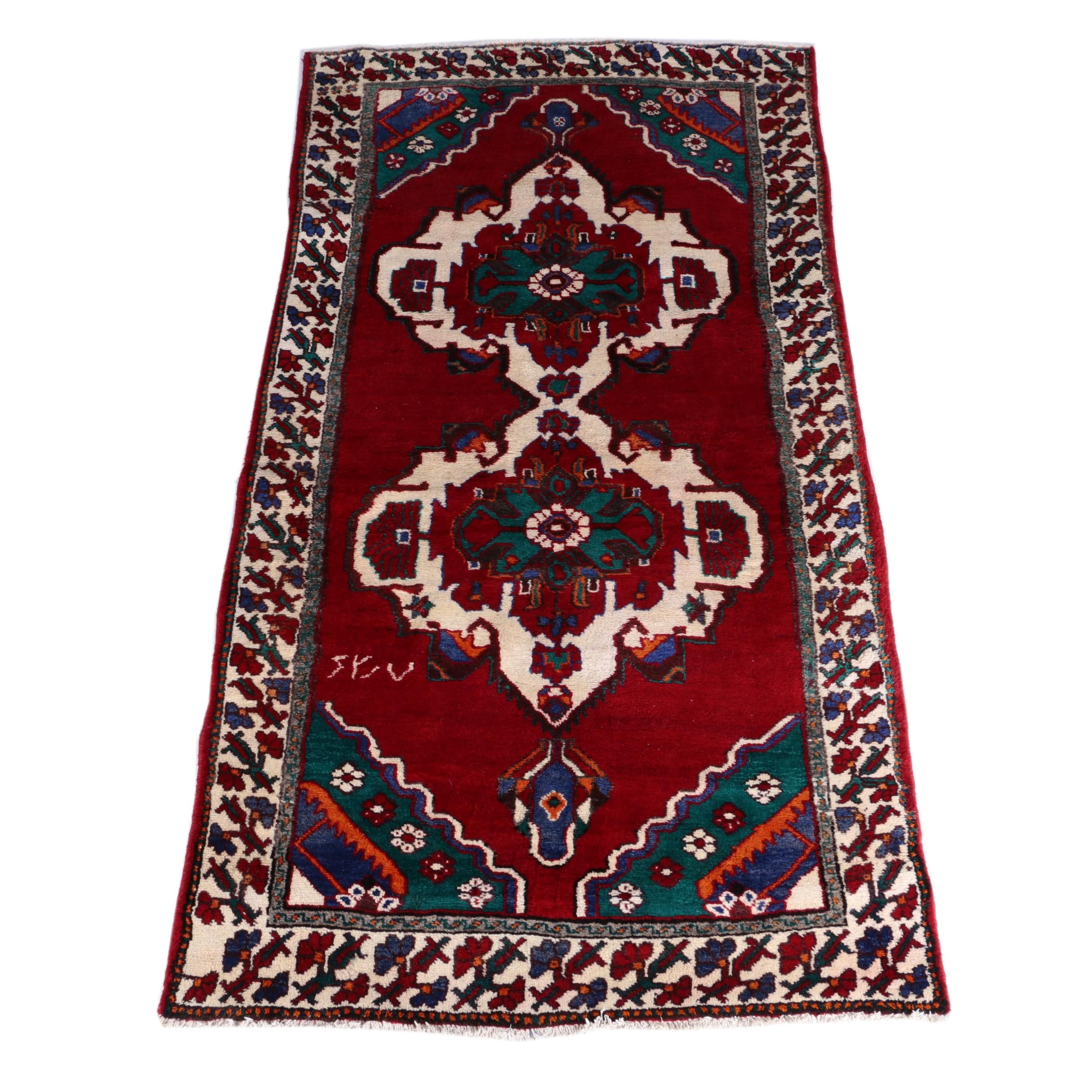 Hand-Knotted Turkish Taspinar Long Rug