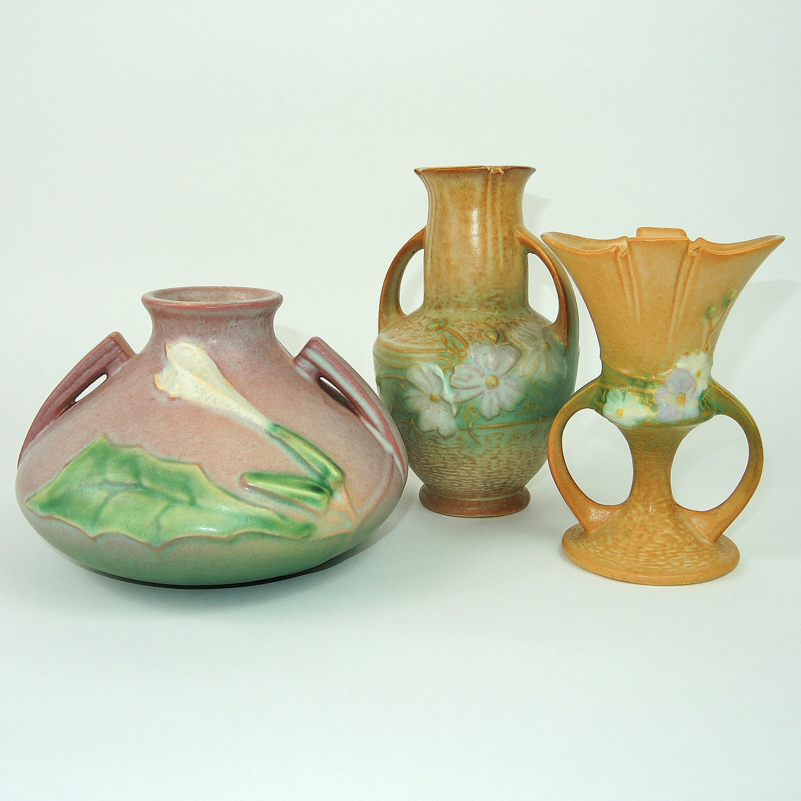 """Vintage Roseville """"Cosmos"""" and """"Thornapple"""" Pottery"""