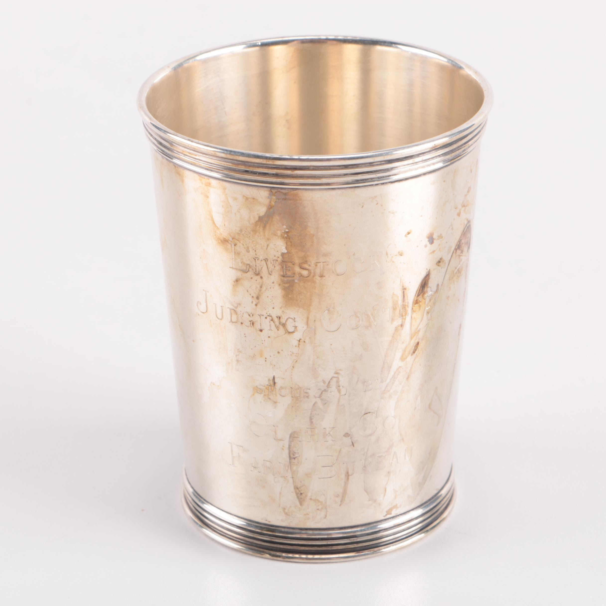 Vintage Manchester Silver Co. Sterling Silver Country Fair Prize Julep Cup